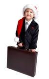 生意人圣诞节准备好的年轻人 免版税库存照片