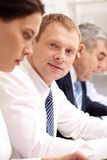 生意人在会议上 免版税库存照片