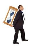 生意人在工作之下的查出的压 免版税图库摄影