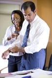 生意人女实业家种族多工作 库存图片