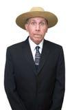 生意人幽默农场工人 免版税图库摄影