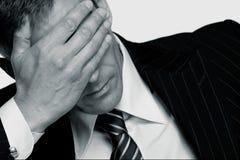 生意人强调说 免版税图库摄影