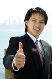 生意人微笑 免版税库存照片