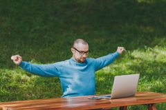 生意人成功的年轻人 免版税图库摄影