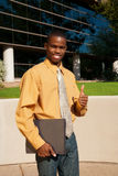 生意人成功的年轻人 免版税库存照片