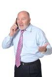 生意人成熟电话联系 库存照片