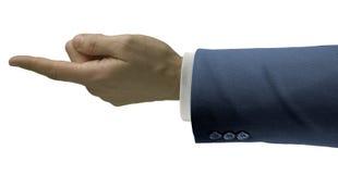 生意人手指 免版税库存照片