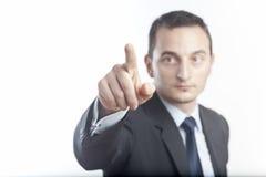 生意人指向 免版税库存照片
