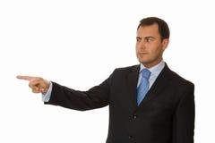 生意人指向 免版税图库摄影