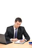 生意人文件办公室签字 库存图片