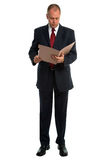 生意人文件读取 免版税库存照片