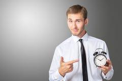 生意人时钟指向 库存照片