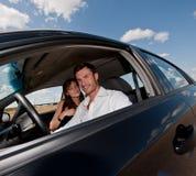 生意人汽车年轻人 免版税库存照片