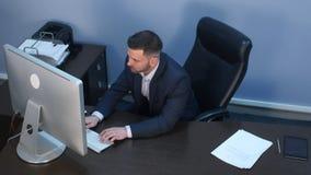 生意人特写镜头计算机递办公室工作 库存图片