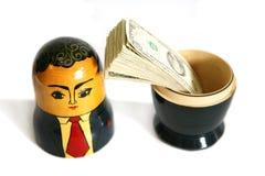 生意人玩偶俄语 免版税库存照片
