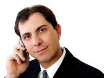 生意人电话 免版税图库摄影