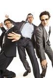 生意人疯狂的跳舞 免版税库存照片