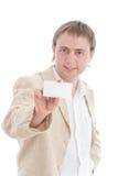 生意人看板卡显示您 库存图片