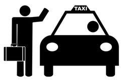 生意人称赞的出租汽车 库存例证