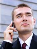 生意人移动电话使用 图库摄影