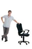 生意人突出在扶手椅子 图库摄影