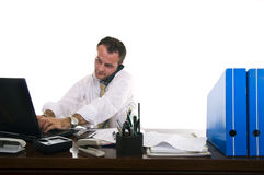 生意人繁忙的工作 免版税库存照片