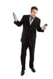 生意人繁忙的白种人 免版税库存照片
