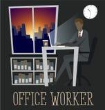生意人膝上型计算机工作 免版税库存照片