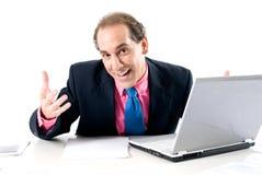 生意人膝上型计算机 库存图片