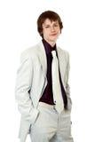 生意人英俊的年轻人 库存照片
