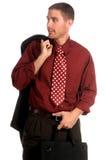 生意人英俊的年轻人 免版税图库摄影