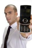 生意人藏品移动电话 库存照片