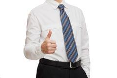 生意人衬衣关系白色 免版税图库摄影