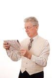 生意人读了报纸 库存图片