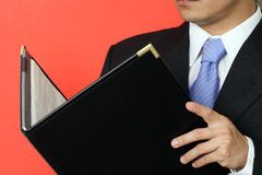 生意人读取 免版税图库摄影