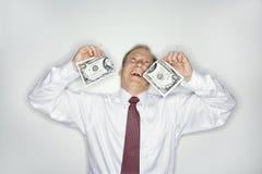 生意人货币浪费 库存照片