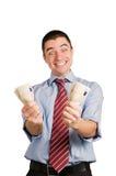 生意人货币 免版税库存图片