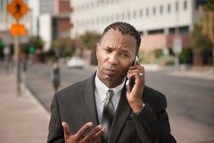 生意人购买权电话 免版税库存图片