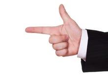 生意人路线手指显示 免版税图库摄影