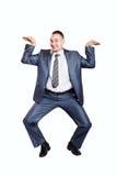 生意人跳舞 库存图片