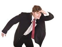 生意人转接将来的查找 免版税库存照片