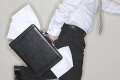 生意人运行中 免版税库存图片