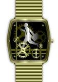 生意人金子运行时间手表 库存照片
