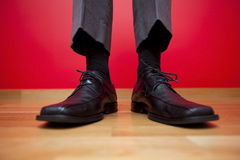 生意人鞋子 免版税库存图片