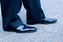生意人鞋子 免版税库存照片