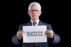 生意人高级成功 免版税库存图片