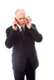 生意人移动电话联系 免版税库存照片