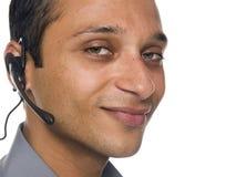 生意人-客户服务部特写镜头 库存照片