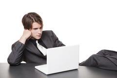 生意人-轻松的膝上型计算机 库存图片