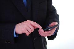 生意人smartphone使用 免版税库存照片